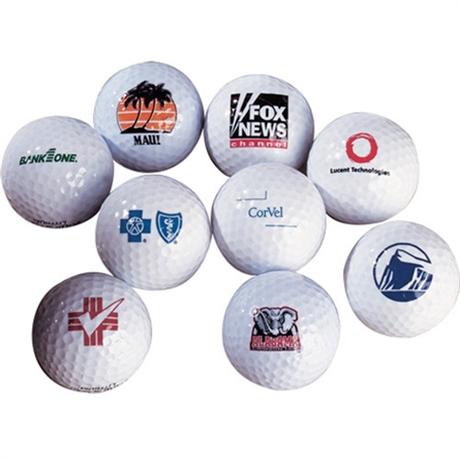 Billiga golfbollar med tryck